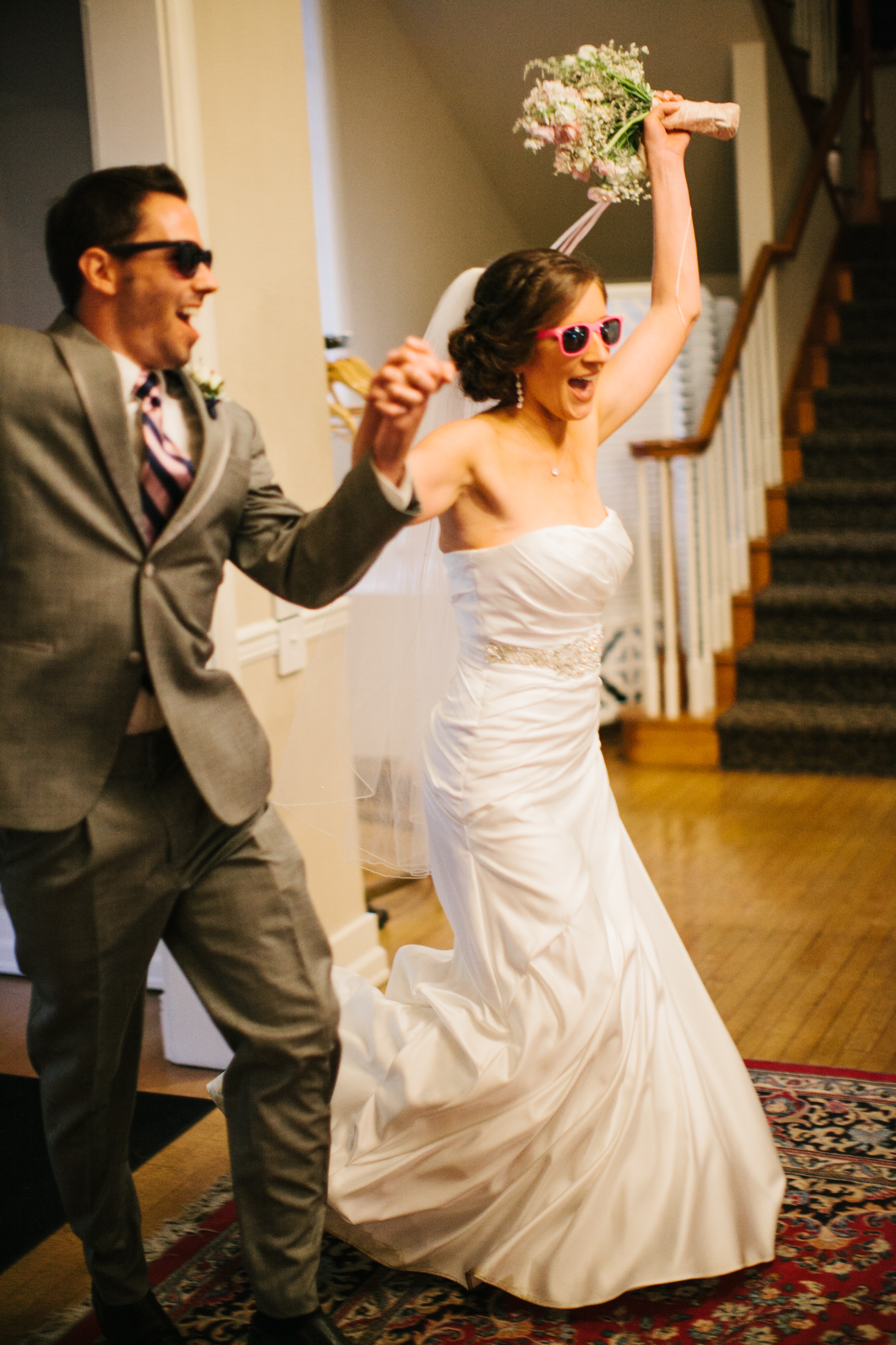 Kari And Mitch Used Sign Sealed Delivered Im Yours Stevie Wonder As The Song For Their Entrance Rocked Sunglasses